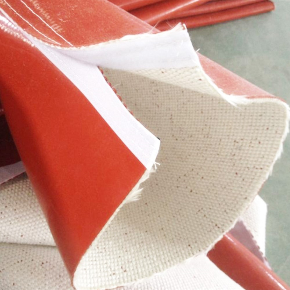 silicone fiberglass fabric fire resistant sleeve