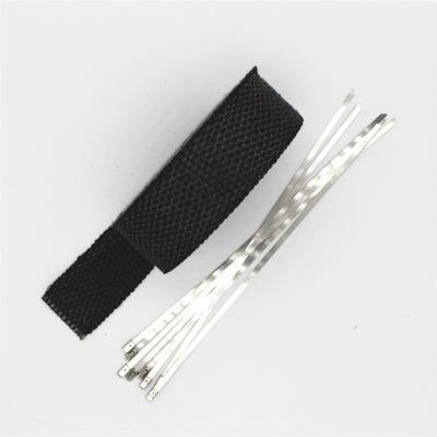 Graphite Black motorcycle exhaust heat wrap